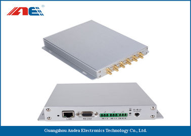 Cina Aluminum Alloy Housing Fixed RFID Reader With 12 Channels Anti Collision Algorithm pemasok