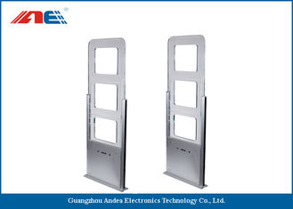 Cina EAS / AFI Alarm Attached RFID Gate Reader For Library Entrance System Aisle Width 90CM pemasok
