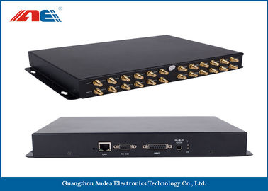 Cina 24 Channels RFID Fixed Reader , High Power RFID Reader For Rfid Inventory Management Distributor