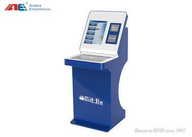 Cina RFID Library Automation Management Books Check In / Out Self Service Kiosk Machine pabrik